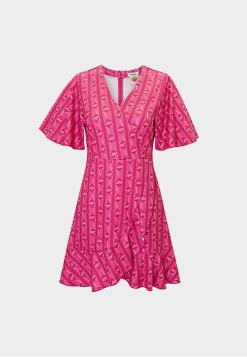 Pomelo pink Lollipop Print Mini Dress -  Hot Pink 2A814AAEA91824GS_1