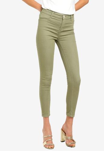 16a8e54ce Shop Dorothy Perkins Khaki Frankie Ankle Grazer Jeans Online on ZALORA  Philippines