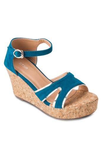 多帶厚底楔型跟涼鞋, 女鞋,esprit地址 楔形涼鞋