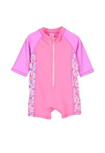 LC Waikiki pink Printed Swimsuit 5BDCBKA74D91E1GS_1