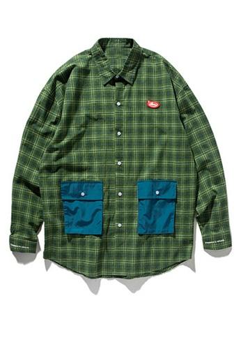 Twenty Eight Shoes Vintage Plaid Panel Pocket Shirt 92118W B9F3EAAD78865CGS_1