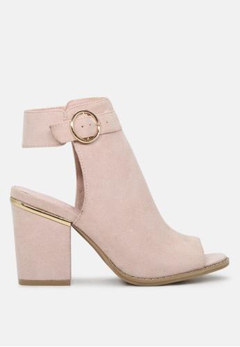 London Rag 粉紅色 漏脚趾高跟凉鞋 SH1788 00738SH2225263GS_1