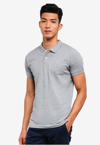 ESPRIT 灰色 短袖POLO衫 8DB38AA896A42EGS_1