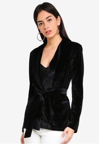 ONLY black Brenda Long Blazer D24F4AA4A52375GS_1