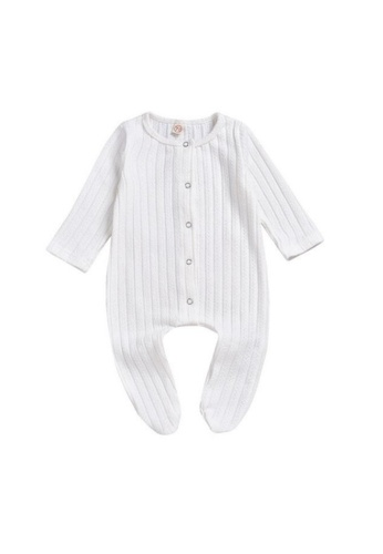 RAISING LITTLE white Arbie Romper - White CC119KA6ECE7F3GS_1