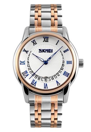Skmei - Jam Tangan Pria - Silver - Stainless Steel - 9122-A