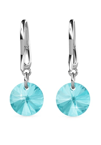 Her Jewellery silver Circlet Hook Earrings (Turquoise) - Made with premium grade crystals from Austria HE210AC0GJSKSG_1