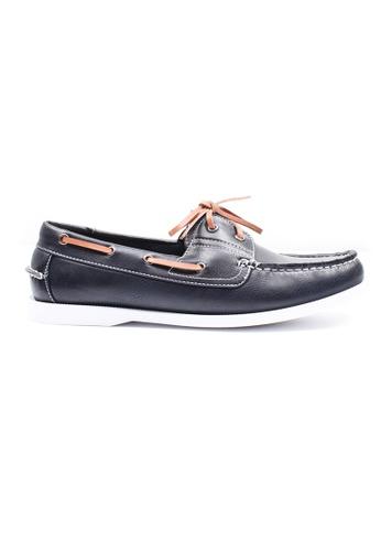 Moley blue Classic Boat Shoes MO329SH00XHNSG_1