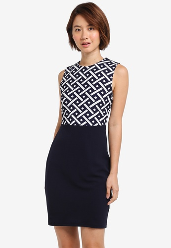 ZALORA navy Pencil Dress 3A1E2AA10BAF2EGS_1