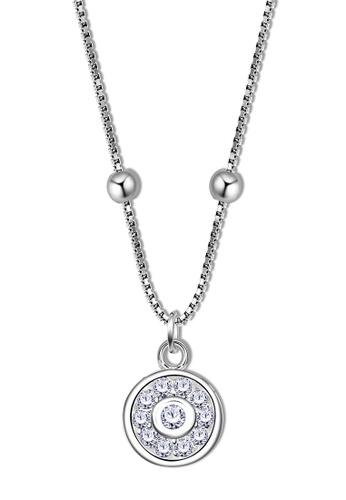 SC Tom Silver silver Center Chain With Stone Pendant - CCS033(S) SC872AC60AILPH_1