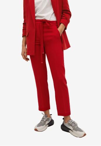 Mango red Belt Flowy Trousers 6CB78AA258C702GS_1