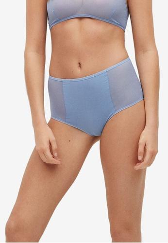 Mango blue High Semi-Transparent Panties A8609USA850C00GS_1