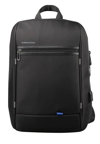 Fashion by Latest Gadget black Kingsons 3165 Crossbody Laptop USB Bag 8C49EAC647167BGS_1