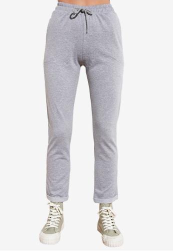 Trendyol grey Elastic Tie Waist Knit Pants C7ADCAAA6C0EB4GS_1