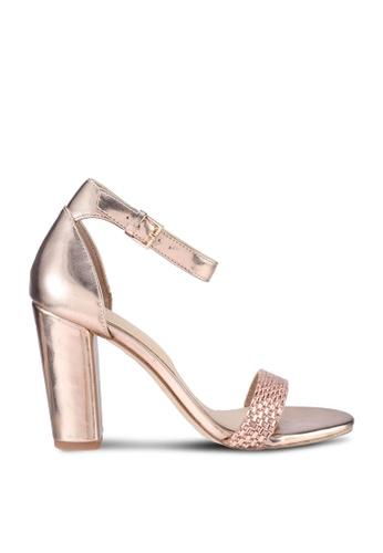 ALDO 粉紅色 Jeraybling Open Toe Ankle Strap Block Heels 8F6EDSHFEEB984GS_1