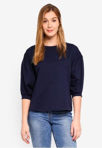 ESPRIT navy 3/4 Sleeve T-Shirt 426C4AAD56EB66GS_1