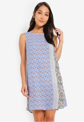 Glamorous blue Floral Print Dress AB5A2AAEA754FFGS_1