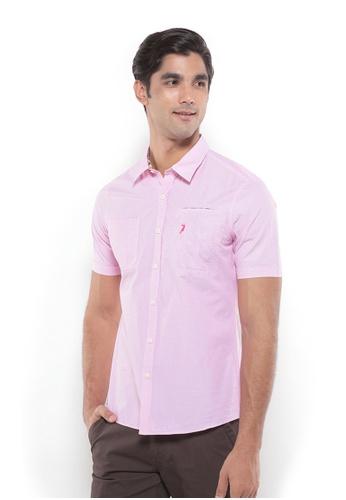 POLO HAUS pink Polo Haus - Men Woven Shirt (Pink) PO783AA74YRTMY_1