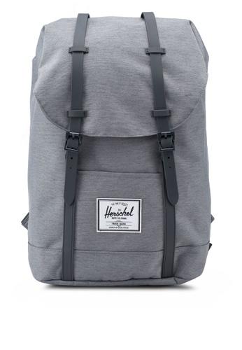 Herschel grey Retreat Backpack 0E646AC9817F6DGS_1