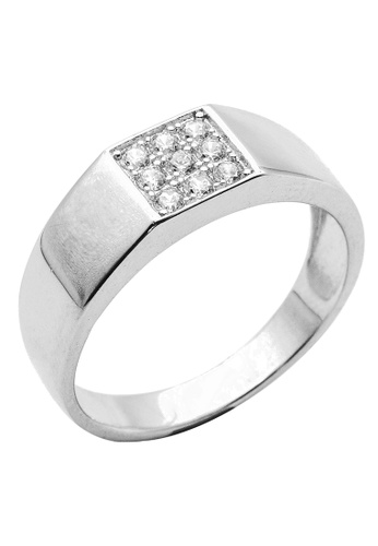 Elfi silver Elfi 925 Genuine Silver Engagement Ring R32 - The Cloud Nine EL186AC68FOPMY_1
