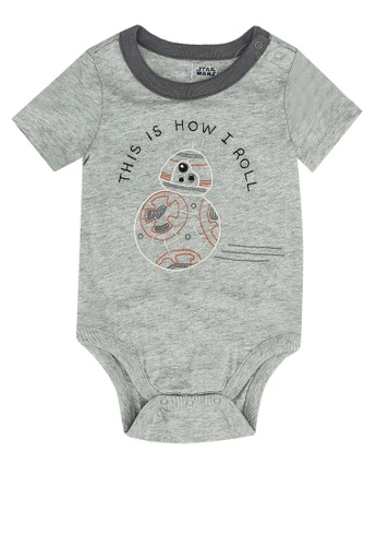 GAP grey Star Wars Printed Short Sleeves Bodysuit B0935KA2B8D89EGS_1