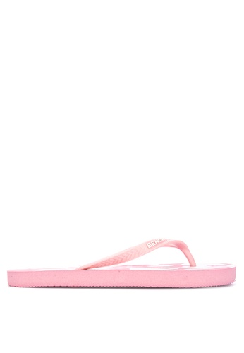 BENCH pink Printed Rubber Slippers D68B4SHAEC7575GS_1