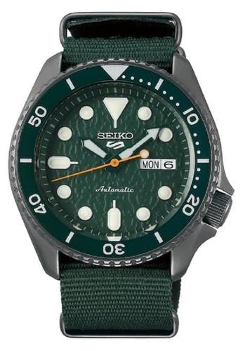 Seiko green Seiko 5 Automatic 24 Jewels New Logo SRPD77K1 Green Nylon Strap 3C9E8AC7801A7DGS_1