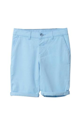 LC Waikiki blue Cotton Boy's Chino Roller Shorts 9FCB0KA019AD65GS_1