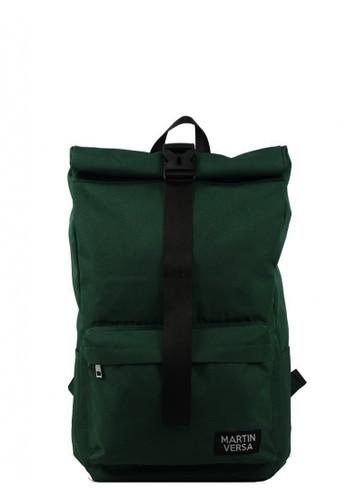 "Martin Versa green Rolltop / Flip Backpack Fit For 15"" Laptop - Water Repellent - Green DCA66AC9CEDF7CGS_1"