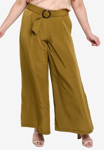 Vero Moda green Plus Size Kaa Wide Pants CAD98AA9D4D138GS_1
