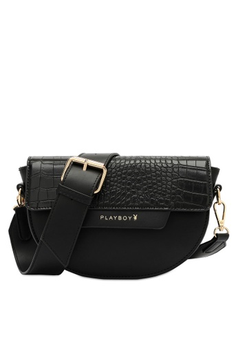 PLAYBOY BUNNY black Women's Sling Bag / Shoulder Bag / Crossbody Bag 5AC93AC87F57D3GS_1