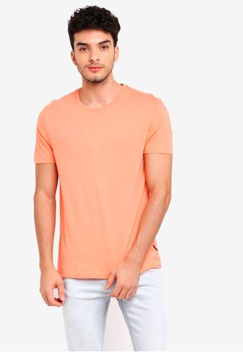 Burton Menswear London pink Summer Pink Crew Neck T-Shirt E0DF9AAC73F080GS_1