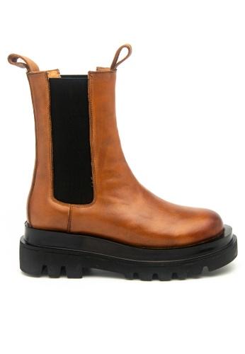 Twenty Eight Shoes Platform Cow Leather Boots 2092-1 5ECC8SHA52AEC0GS_1