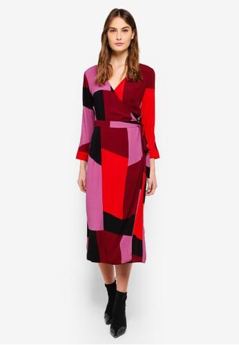 Vero Moda red Molly Wrap 7/8 Calf Dress 04B04AA6EB2A2EGS_1