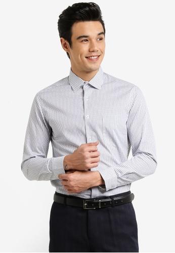 G2000 white Checkered Long Sleeve Shirt G2754AA0RDIJMY_1