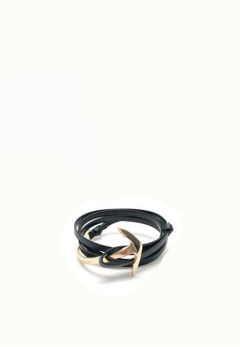 MADISON INC black Madison Inc's Arrow Black Leather Bracelet E403FACF88B00EGS_1