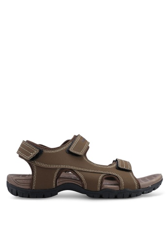Weinbrenner brown Strap On Sandals 30509SHD8AD695GS_1