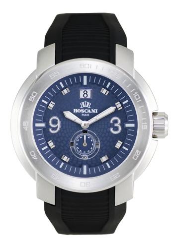 Roscani blue Roscani Pedro 969 (WR 5ATM) Blue Silicone Men Watch 613D8AC4C61987GS_1