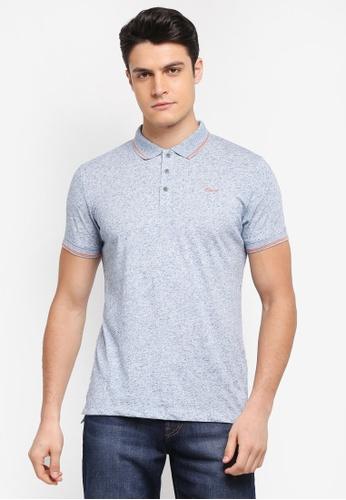 ESPRIT blue Short Sleeve Polo Shirt 63732AA430715AGS_1