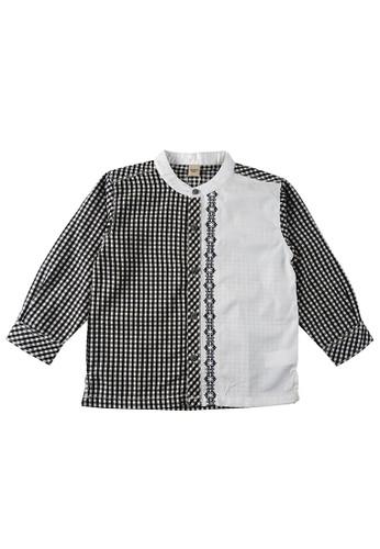 KIDS ICON black and white KIDS ICON - Kemeja Lengan Panjang Anak Laki-laki Colours 03-36 Bulan With Stripes Detail - CBKL0600200 33658KAC71C5D6GS_1