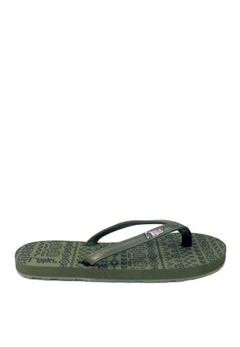Ripples green Arika Aztec Flip Flops 086F2SH961B605GS_1