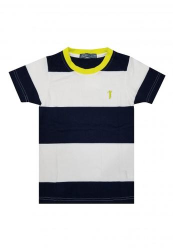 BOSSINI KIDS navy Striped T-shirt C3C01KAECEC970GS_1