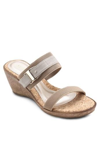 雙帶木製楔型鞋, esprit hk outlet女鞋, 楔形涼鞋