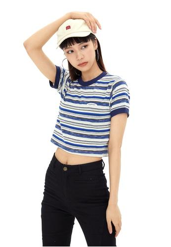 Twenty Eight Shoes Short Contrast Stripe T-shirt HH-N0027 17E28AA588E70EGS_1