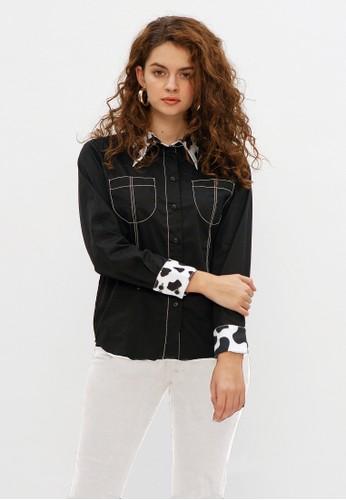 ALYCIA CLOTHING black Carrie Shirt BF4CDAA583AED7GS_1