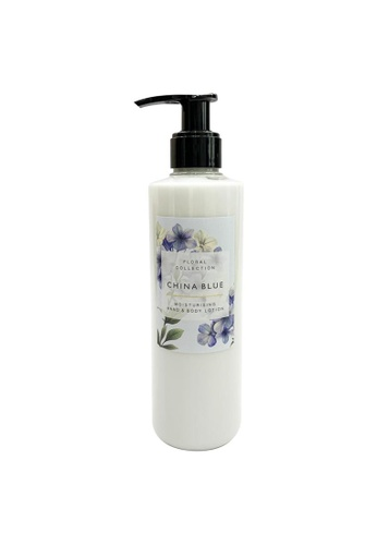 MARKS & SPENCER blue M&S China Blue Hand & Body Lotion 300ml 63022BEEBAB42DGS_1