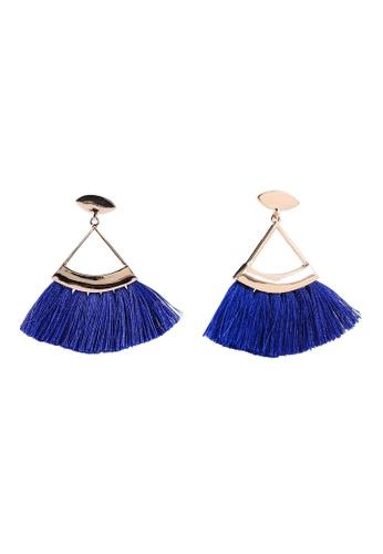 ALDO 藍色 流蘇耳環 FD355AC1095197GS_1