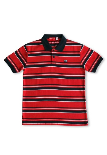 Osella Kids red Osella Baju Anak Laki Laki Polo Stripe Red E163AKA4B0F472GS_1