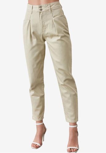Trendyol beige Pocket Detailed High Waist Mom Jeans 202D7AACC0CB77GS_1
