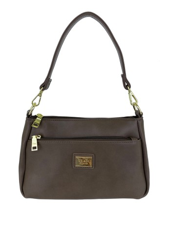 Mel&Co brown Faux Leather Shoulder Sling Bag 47A67ACAB078BAGS_1